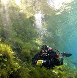 cold water diving in Europe picture gallery