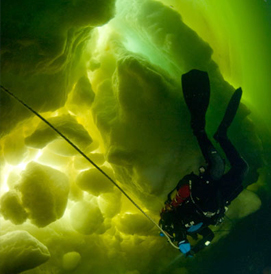 Ice Diving, White Sea, Russia