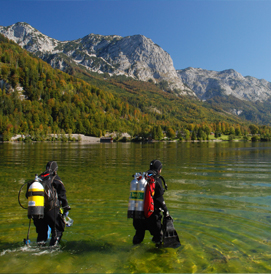 austrian lakes and rivers scuba diving tour