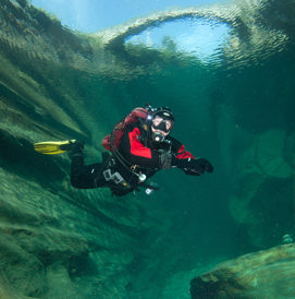 swiss rivers scuba diving tour